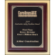 P5052 (8x10) Silver florentine border with textured black center on rosewood piano-finish plaque