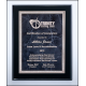 Airflyte black High Lustr plaque 9x12