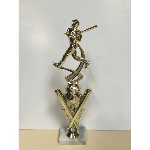 Cross Bats w/ Motion Baseball Figure