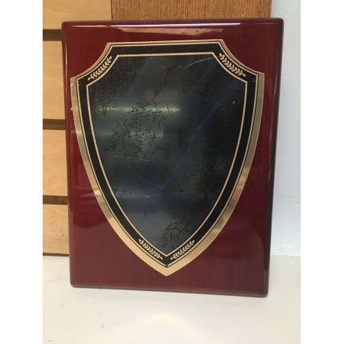 7 X 9 Rosewood Shield Plaque