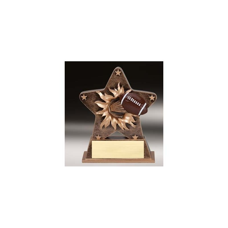 Starburst Football Trophy