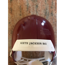 Kieth Jackson Autographed Mini Helmet