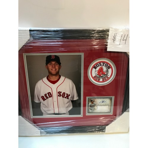 Dustin Pedroia game used jersey plaque