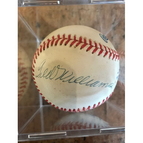Joe Dimaggio and Ted Williams Autographed Baseball