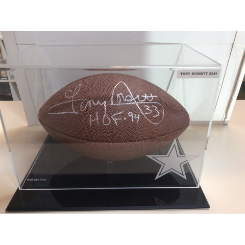 Tony Dorset Autographed Football