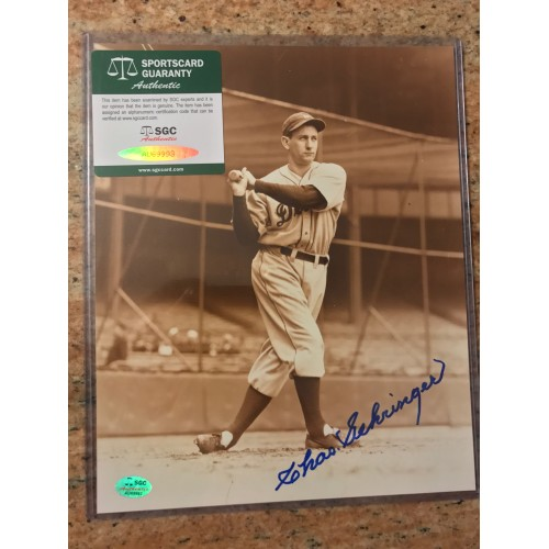 Johnny Mize Autographed Photograph