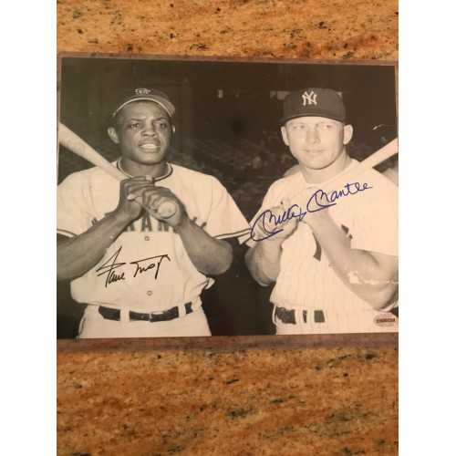 Joe DiMaggio, Billy Martin, and Mickey Mantle Autographed Photograph