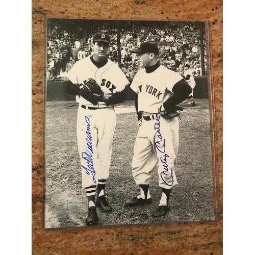 Willie Mays and Mickey Mantle Autographed Photograph