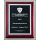 P5089 (8x10 1/2) High gloss black stained plaque with silver florentine border plate