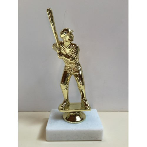 Baseball Figure on Marble Base