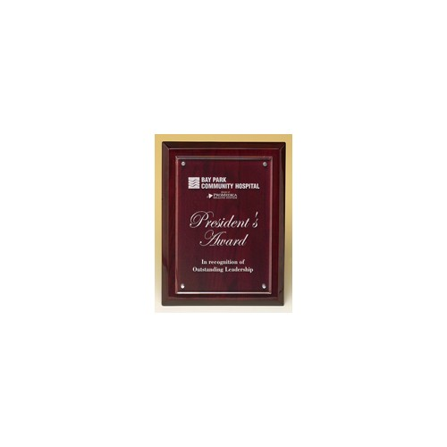 Rosewood Piano Finish Frame with Acrylic Front 7X9 P4472