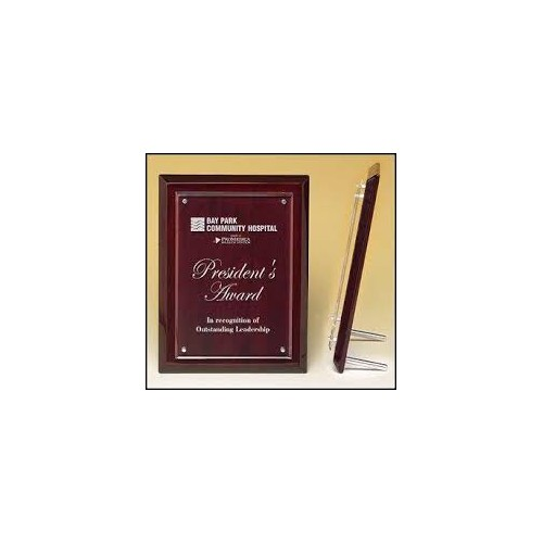 Rosewood Piano Finish Frame with Acrylic Front P4474 9x12