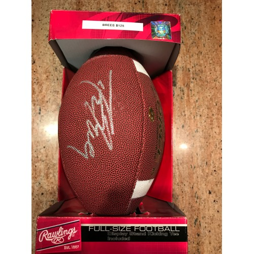 Drew Brees Autographed Football