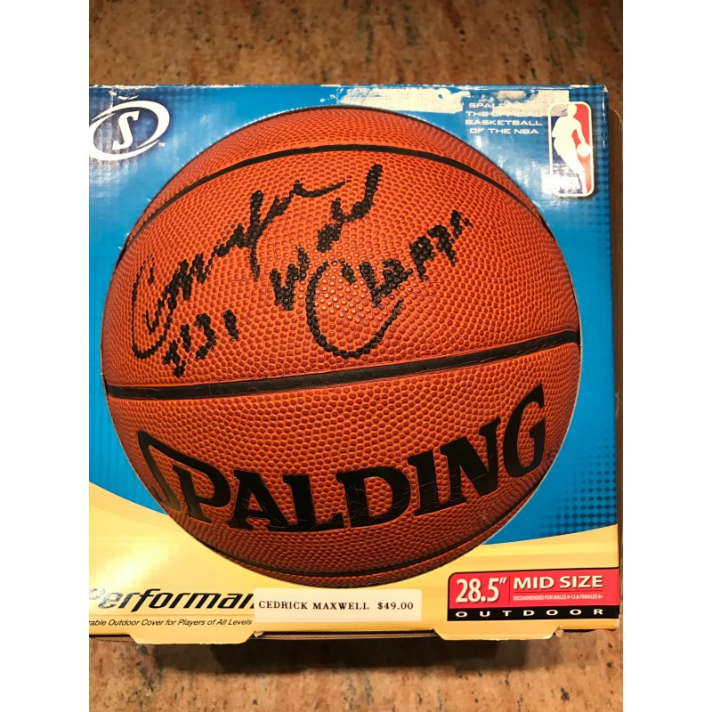 Cedrick Maxwell Autographed Basketball