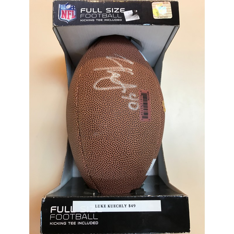 Luke Kueckly Autographed Football