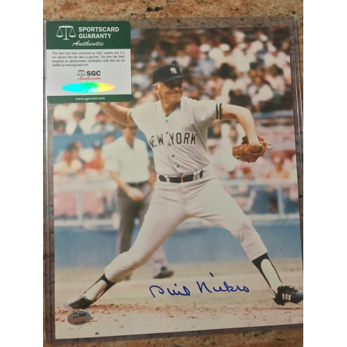 Enos Slaughter Autographed Photograph